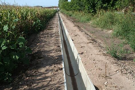 Canali irrigazione in cemento prefabbricati