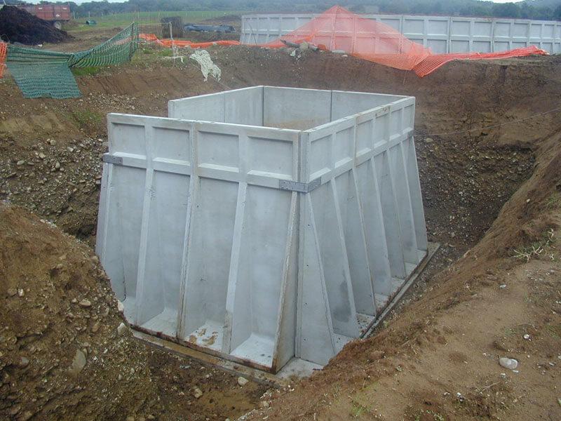 vasche prefabbricate cemento per stoccaggio liquami lunga